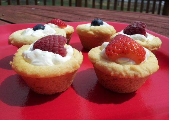 Lemon Cream Sugar Cookie Fruit Cups