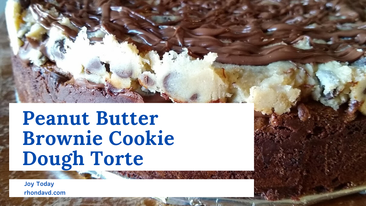 Peanut Butter Brownie Cookie Dough Torte